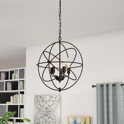 Hamby 5-Light Candle Style Globe Chandelier