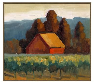 "Sienna Barn Framed Canvas by Sally Rosenbaum, Sienna Barn - Large, 36 x 32"""
