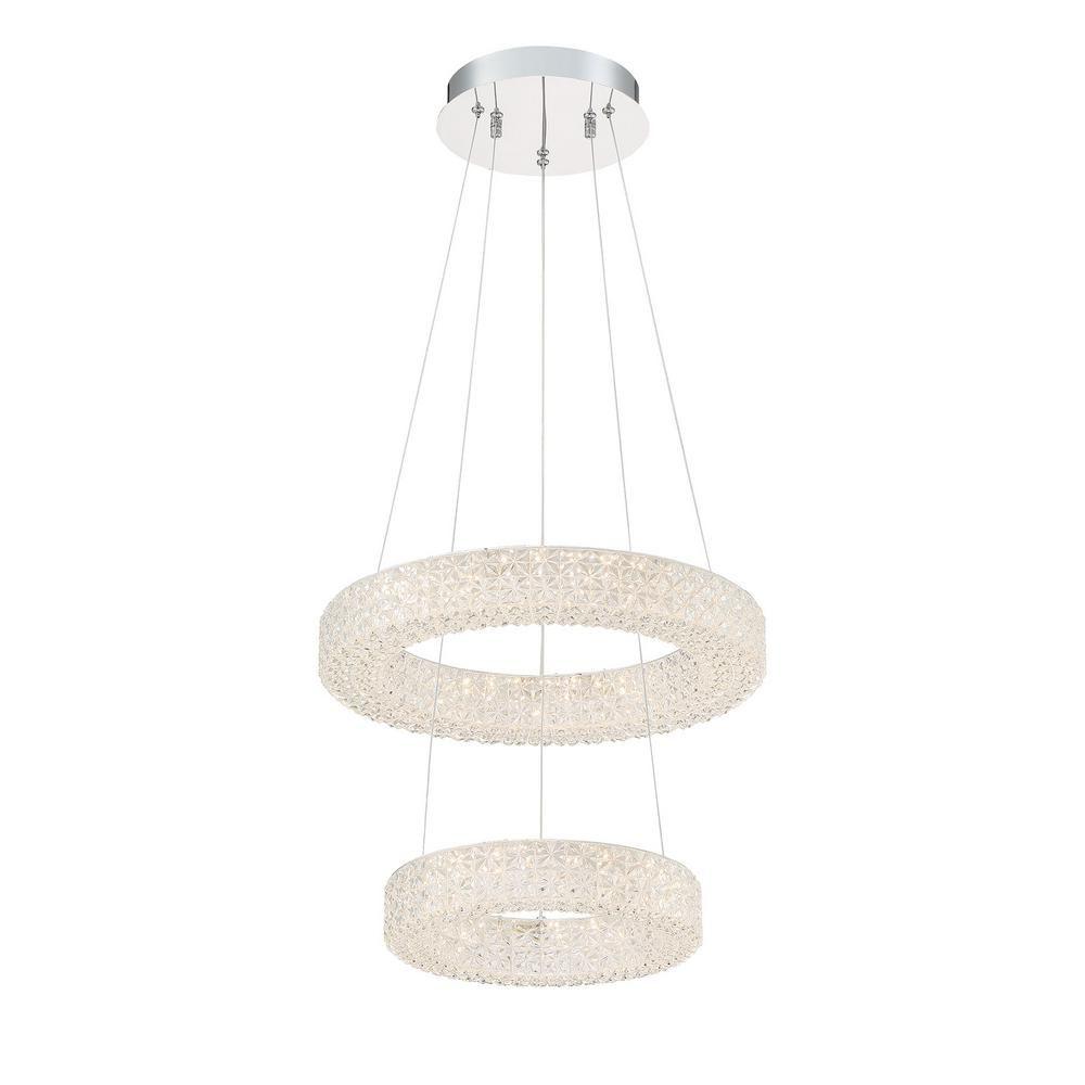 Good Lumens by Madison Avenue 150-Watt Equivalence Integrated LED Chrome Pendant