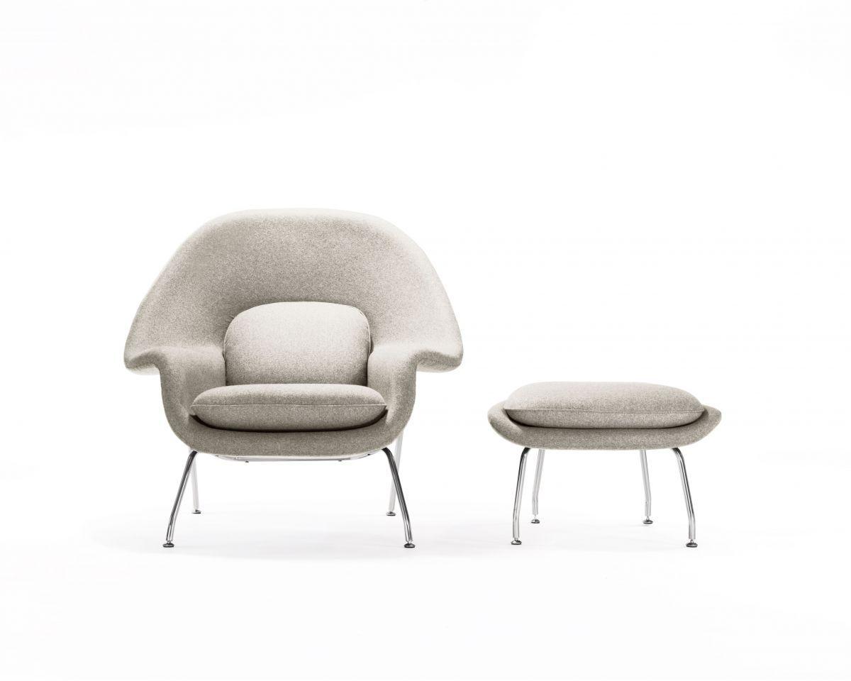 Womb Chair And Ottoman - Smoky Quartz