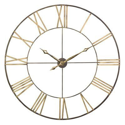 "Oversized Mosher Round Metal 40"" Wall Clock"