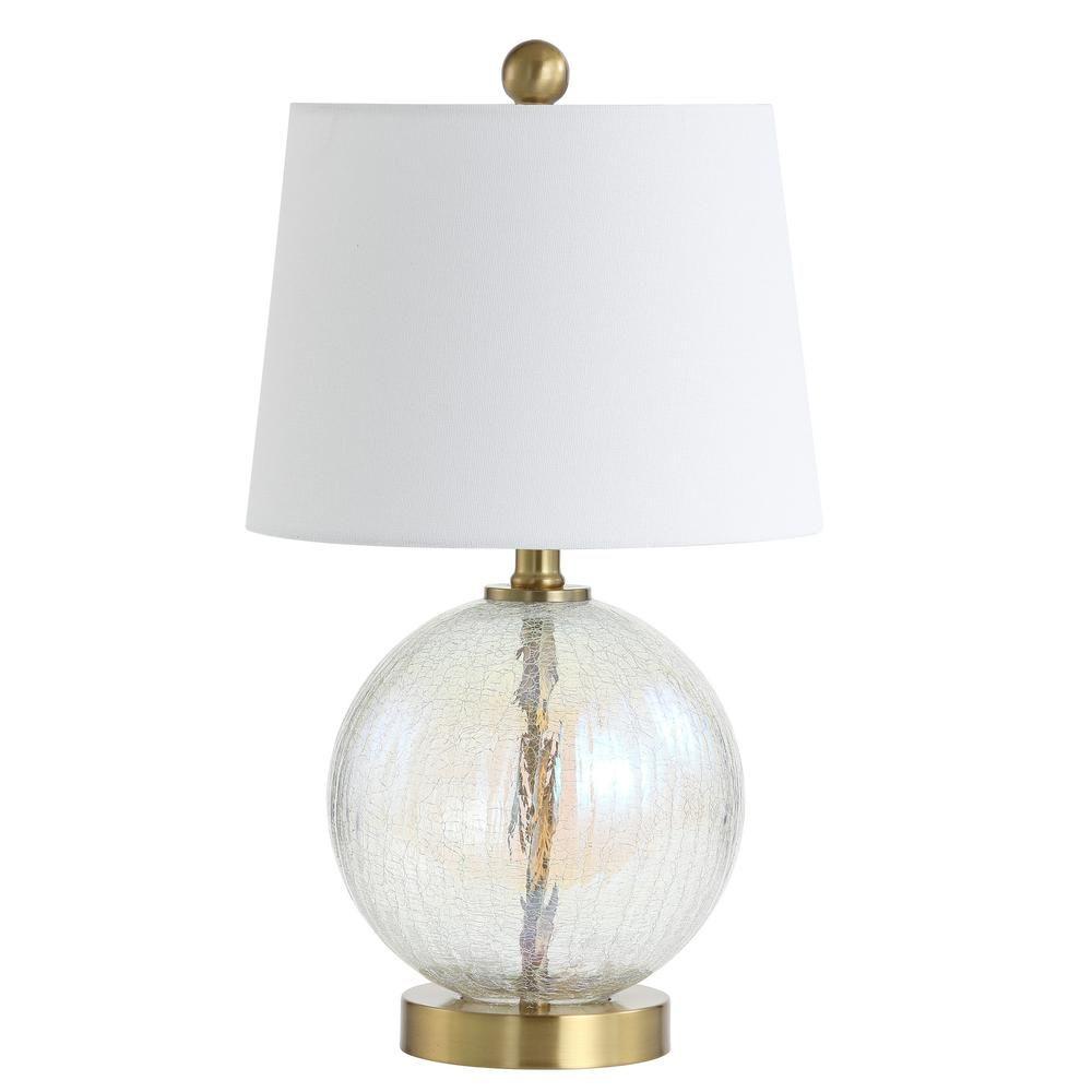 Safavieh Riglan 20 in. Clear/Gold Table Lamp