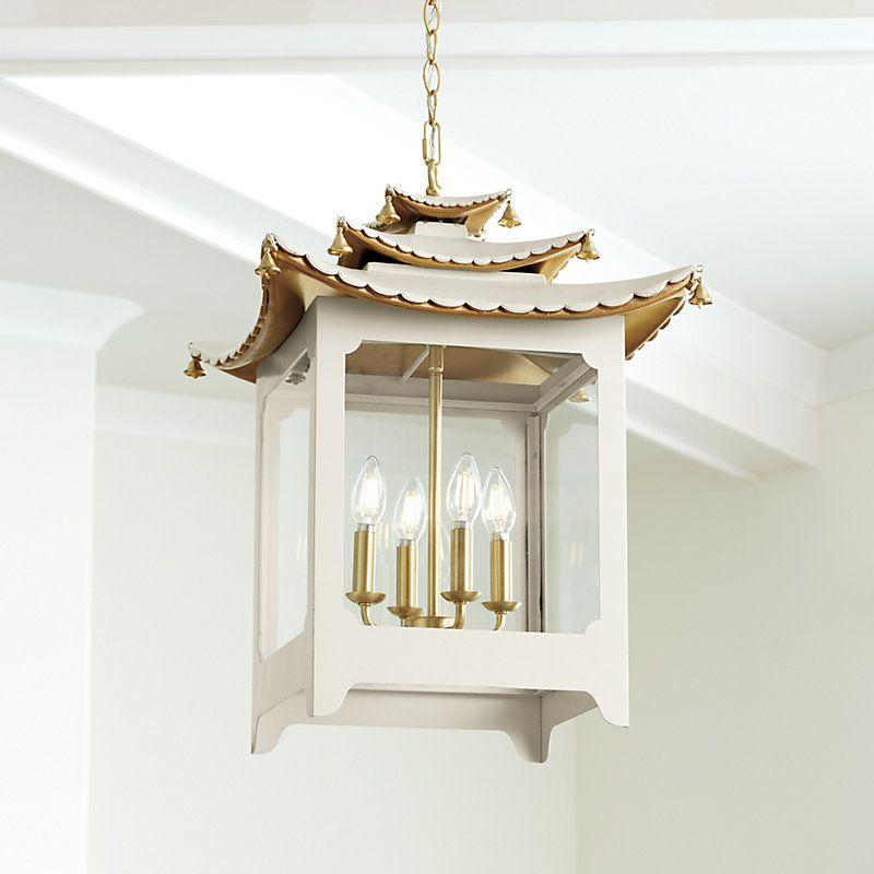 Ballard Designs Aya 4-Light Pagoda Chandelier