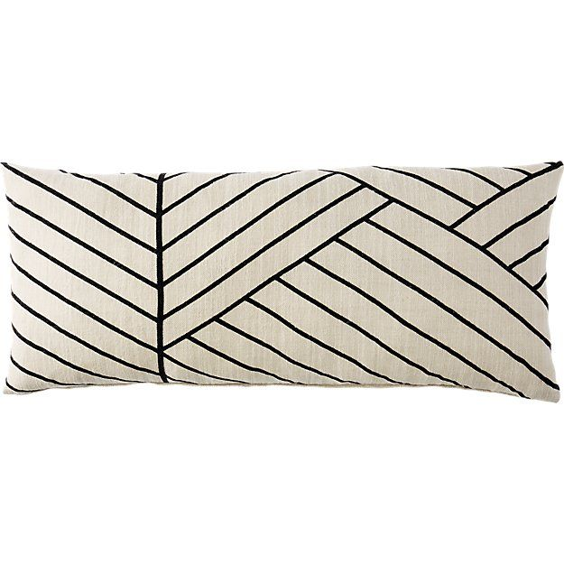 """36""""x16"""" forma pillow with feather-down insert"""