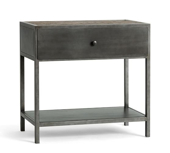 BIG DADDY'S ANTIQUES METAL BEDSIDE TABLE