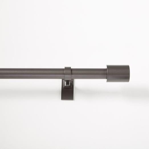 "Oversized Adjustable Metal Rod - Gunmetal - 108"" -144"""