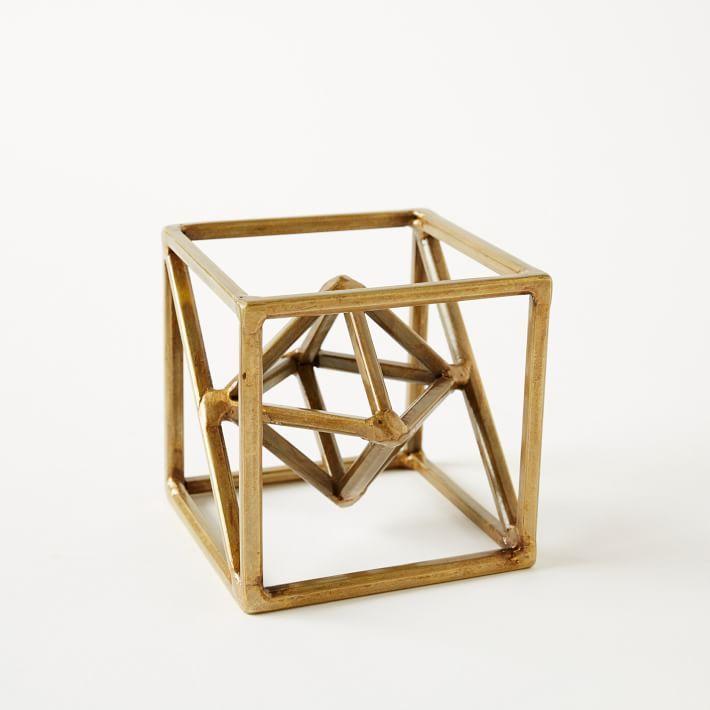 Symmetry Object, Octahedron, Gold