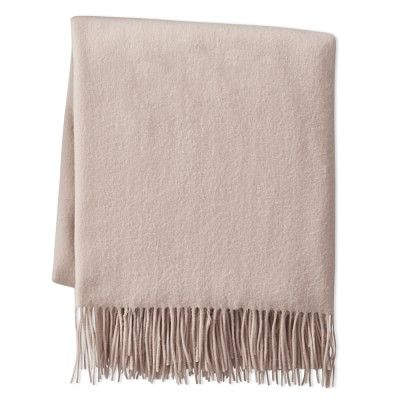 """Solid Cashmere Throw, 50"""" X 65"""", Rose"""