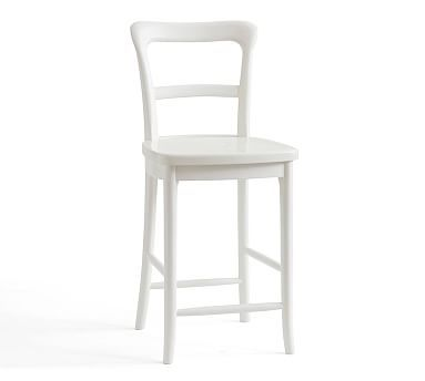 Cline Counter Stool, White