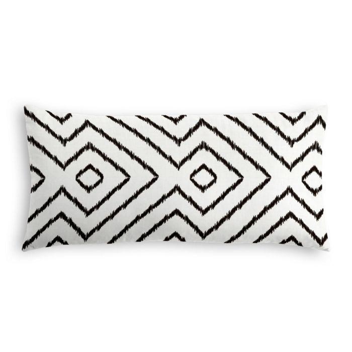 """Lumbar Pillow Optrix, Black, 12"""" x 24"""""""