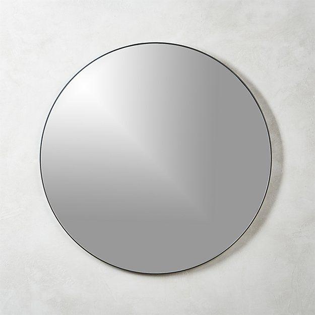 "Infinity black round wall mirror 36"""
