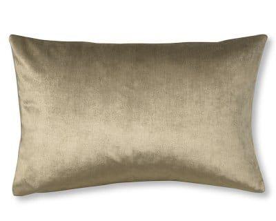 """Velvet Lumbar Pillow Cover, 14"""" X 22"""", Putty"""