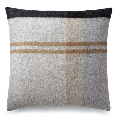 """Plaid Lambswool Pillow Cover, 22"""" X 22"""", Grayson"""