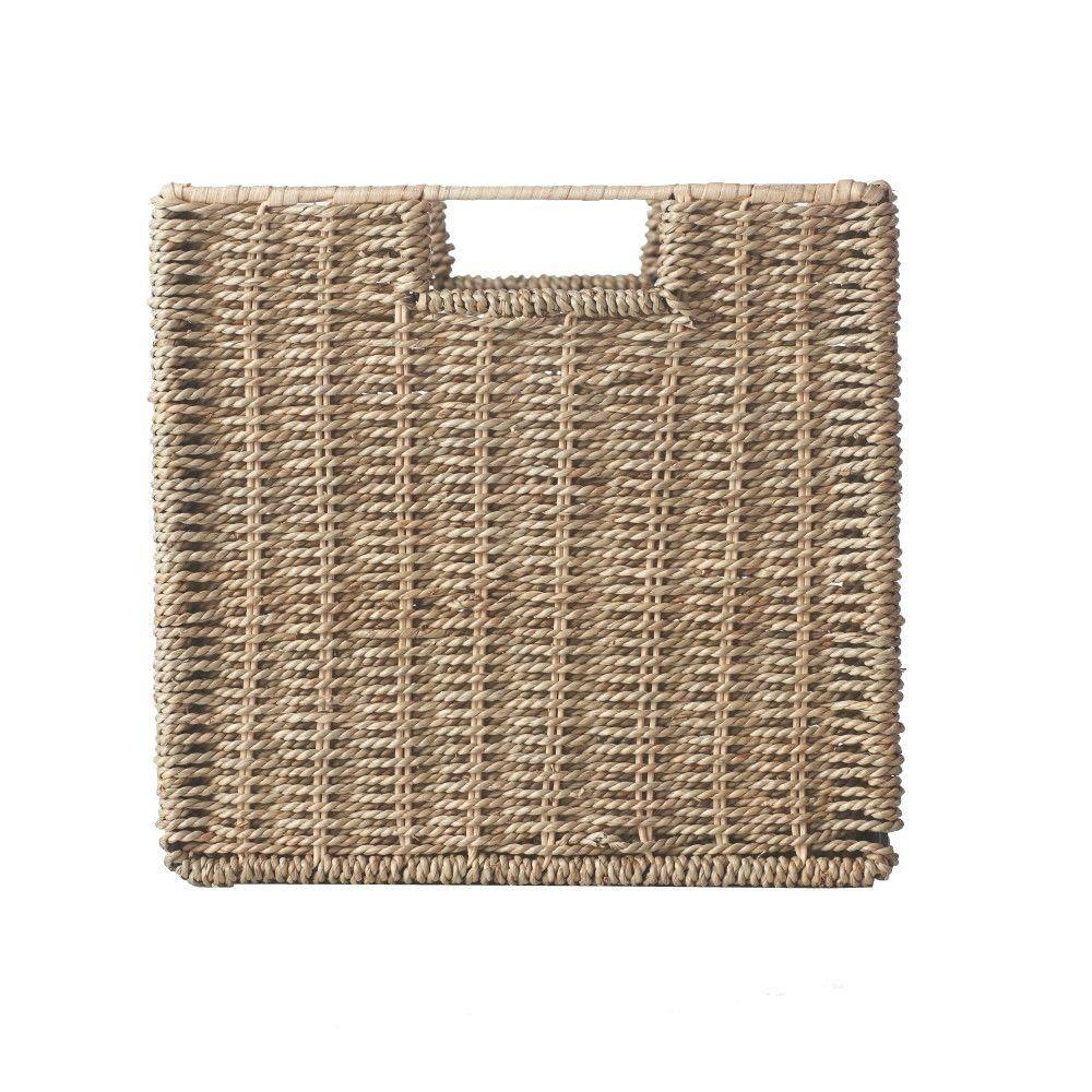 11 in. x 10.5 in. Bin Basket (Set of 3), Seagrass