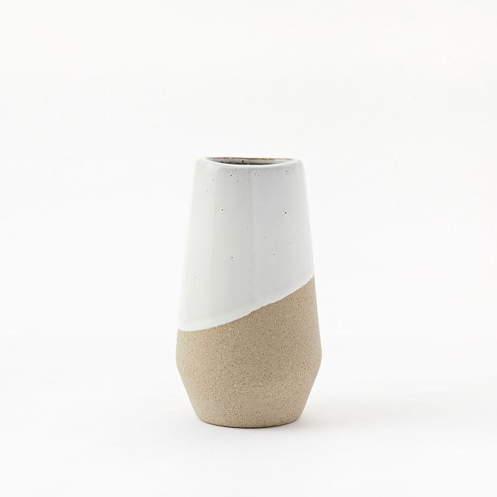 Half-Dipped Stoneware Vase - Medium Skinny