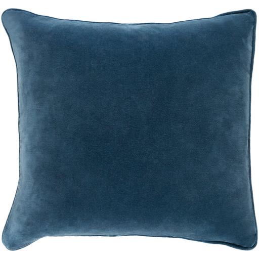"""Safflower Pillow -Teal - 18"""" x 18"""" w/down insert"""
