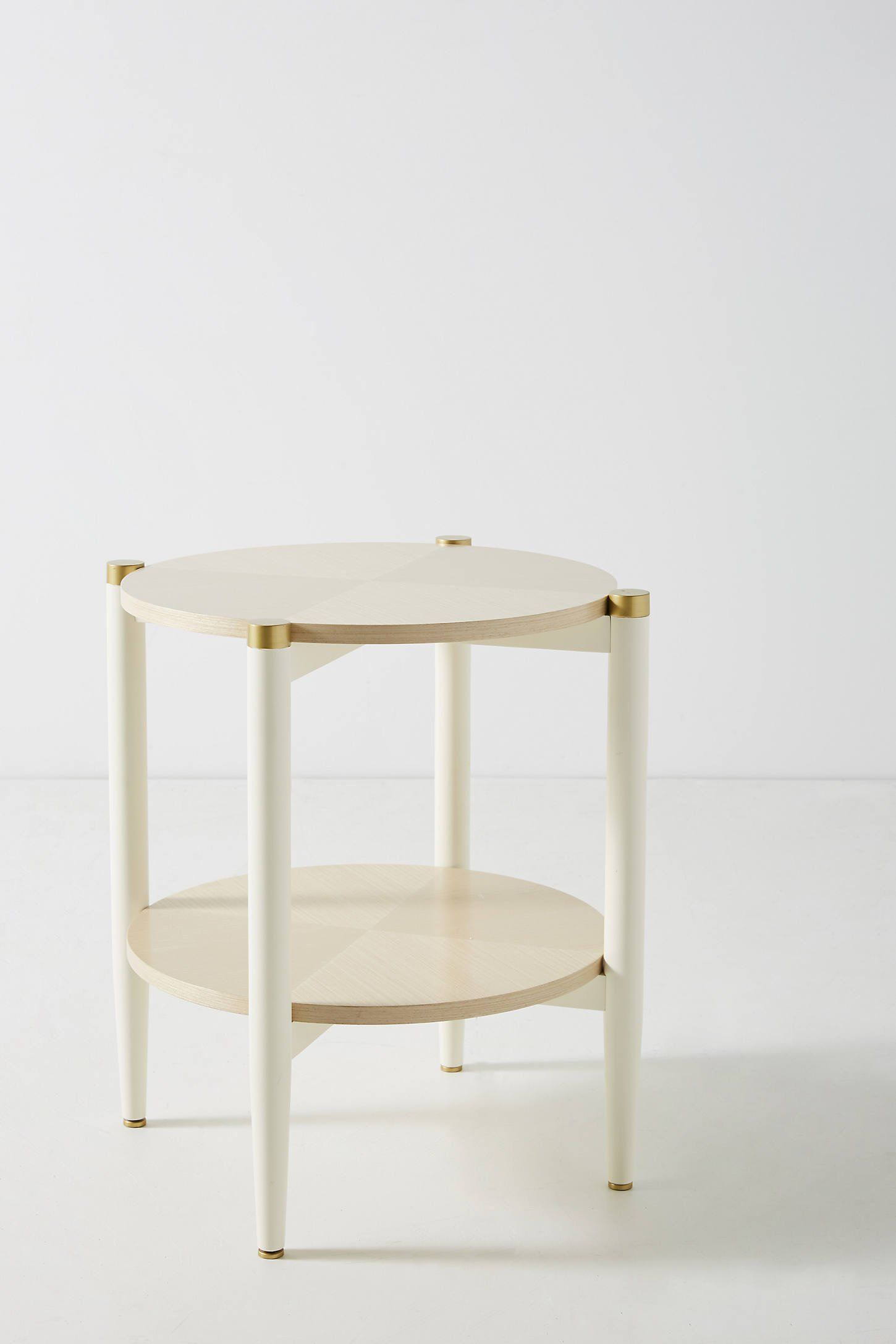 Geo-Marquetry Side Table