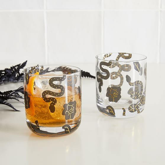 Spooky Double Old Fashioned Glasses, Set of 2