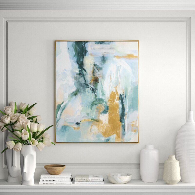 """Chelsea Art Studio 'Quiet Water' By Giselle Kelly - Picture Frame Painting Print on Canvas Size: 59.5"""" H x 48.5"""" W x 1.5"""" D"""