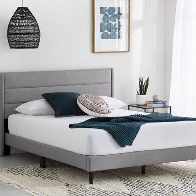 Scarlett Upholstered Low Profile Platform Bed