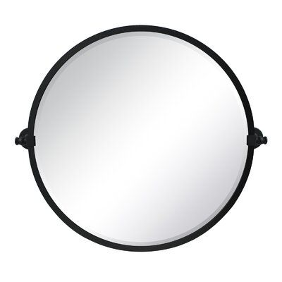 Comtemporary Vintage Round Pivot Mirror