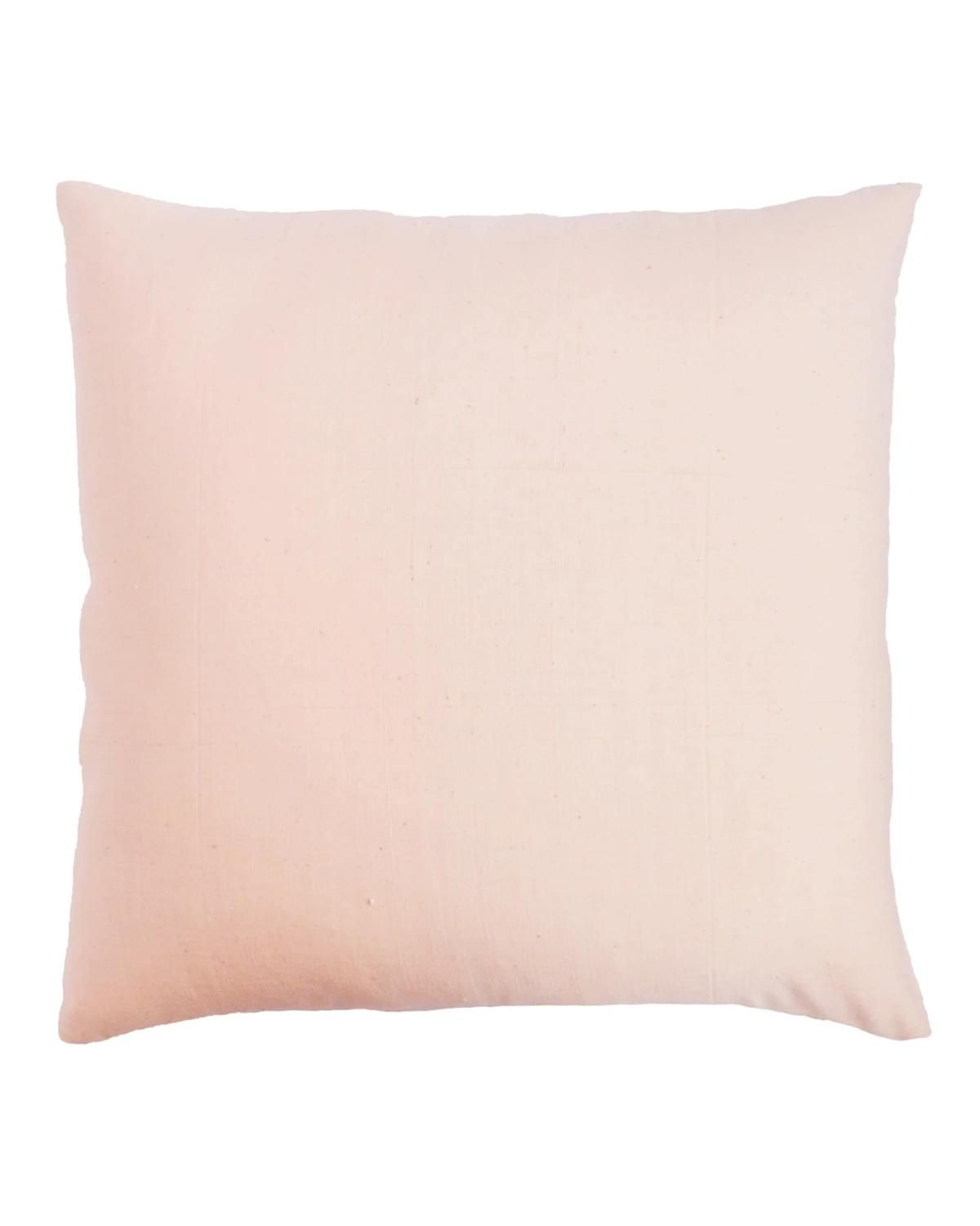 Handwoven Blush Pink Pillow - With Insert