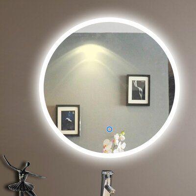 Alec Backlit Modern & Contemporary Lighted Bathroom/Vanity Mirror
