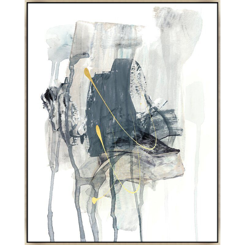 """Chelsea Art Studio 'Lost Conflict IV' by Emma McCartney - Floater Frame Painting on Canvas Size: 46.5"""" H x 37.5"""" W x 1.5"""" D, Format: Image Gel Brush"""