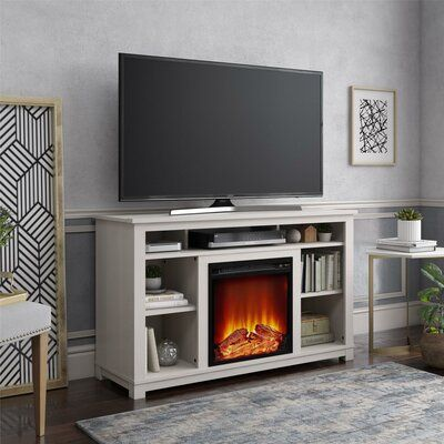 """Burleigh TV Stand for TVs up to 55"""" with Fireplace Included"""