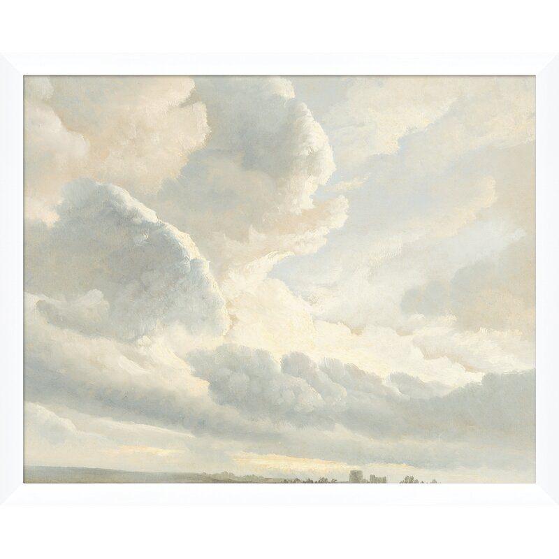 "Soicher Marin 'Cloud Sunset Landscape' Framed Photograph Frame Color: White, Size: 17.25"" H x 21.25"" W x 1.25"" D"