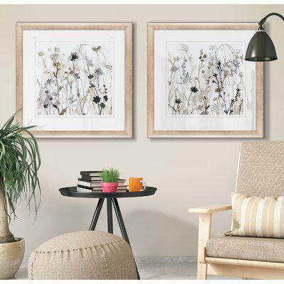 'Wildflower Mist I' 2 Piece Framed Print Set