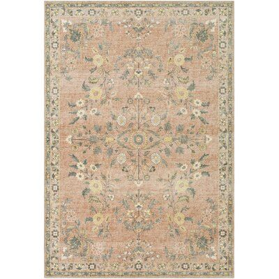 Amold Floral Cream/Pale Pink Area Rug