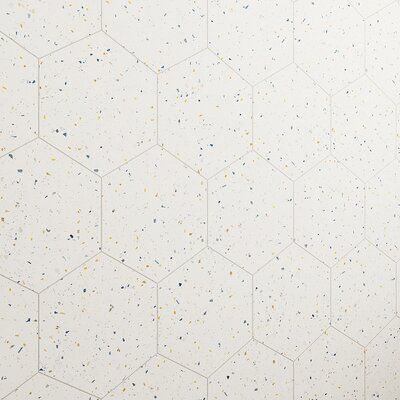 SAMPLE-Malati 12.5 In. X 14.5 In. Matte Porcelain Hexagon Floor And Wall Tile (10.51 Sq. Ft. / Case)
