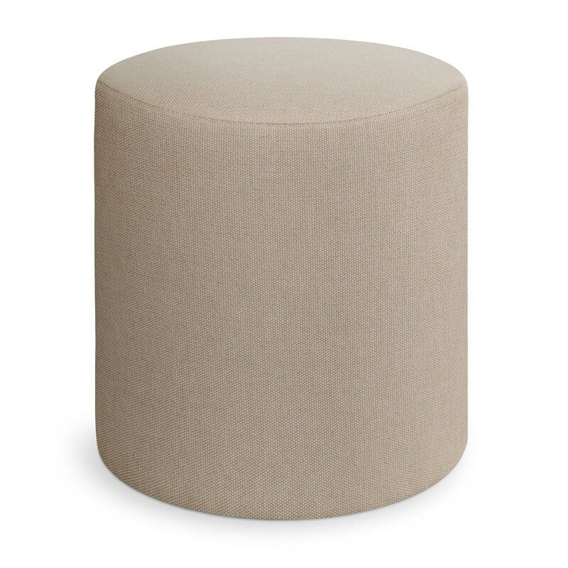 "Blu Dot Bumper 17"" Round Pouf Ottoman Fabric: Beige"