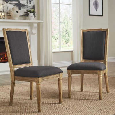 Libretto Ornate Upholstered Side Chair (set of 2)