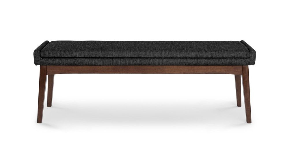 """Chanel Licorice 56"""" Bench"""