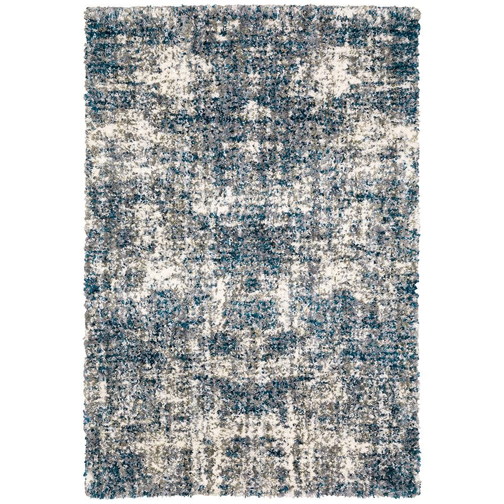 Home Decorators Collection Nordic Blue 8 ft. x 10 ft. Abstract Shag Area Rug