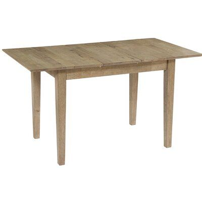 Jayce Butterfly Extendable Solid Wood Dining Table