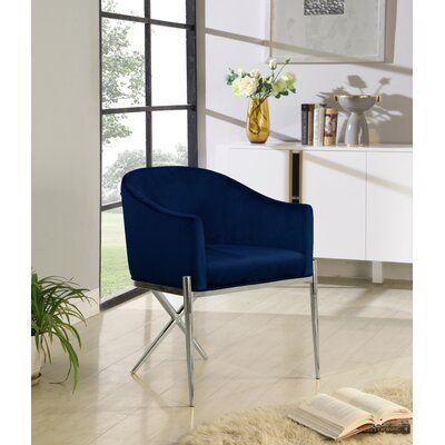 Krista Velvet Upholstered Arm Chair