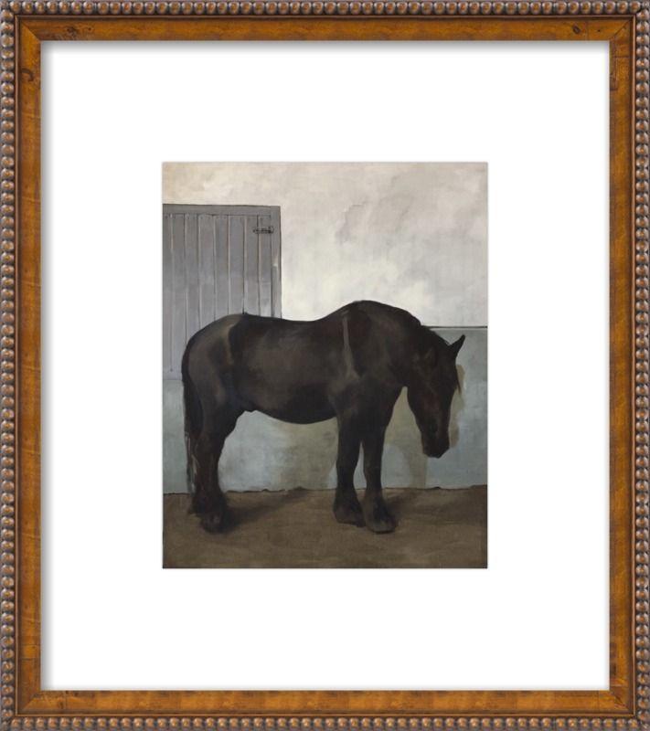 Black horse by Philine van der Vegte for Artfully Walls