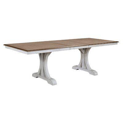 Highland Extendable Solid Oak Pedestal Dining Table