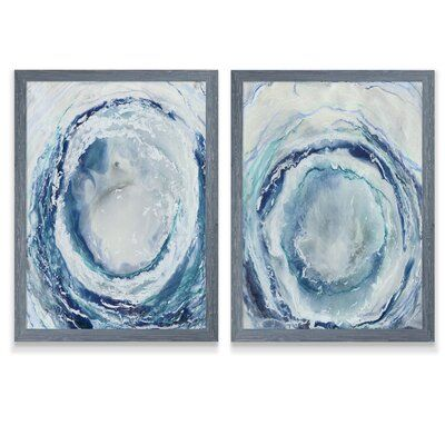 'Ocean Eye I' by Vincent Van Gogh - 2 Piece Picture Frame Painting Print Set