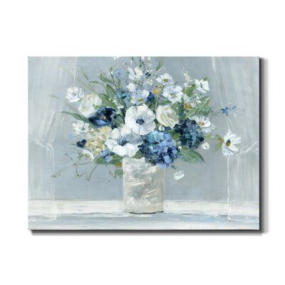 Be Happy Blue by J Paul - Wrapped Canvas Painting Print