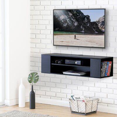 Alisha-May 3 Piece Square Floating Shelf with Adjustable Shelves