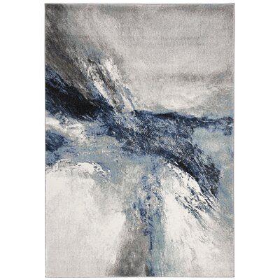 Elara Abstract Blue/Gray Area Rug