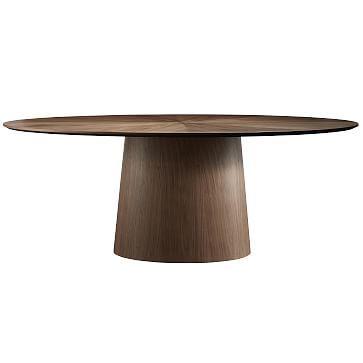 "Deodat 79"" Oval Dining Table, Walnut"