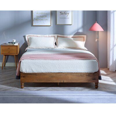Lewellyn Solid Wood Low Profile Platform Bed