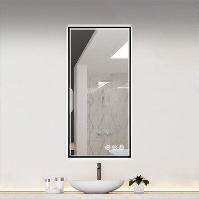 Ickes Modern & Contemporary Lighted Bathroom / Vanity Mirror