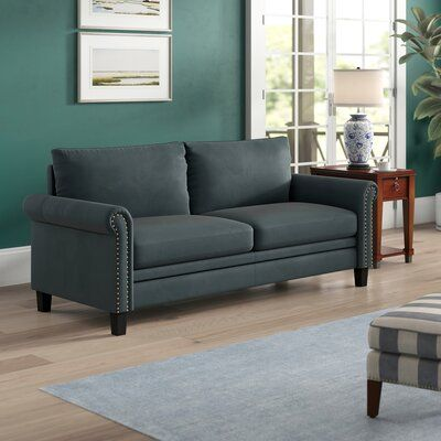 "Tenny Microfiber / Microsuede 80.1"" Round Arm Sofa"