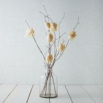 Beech Branch with Hydrangea, White